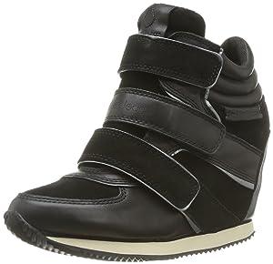 Calvin Klein Jeans Vina Suede Glov Met Lea, Baskets mode femme - Noir (Blp), 41 EU   avis de plus amples informations