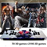 Retro Arcade Video Games Console - 2260 Games in Pandora Treasure 3D Box ,2 Players Joysticks Arcade Machine 1920x1080 HD Output Support for TV Laptop PS4 Nintendo Devices (Color: Sf)