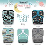 Thirsties Package, One Size Pocket Diaper Snap, Sweet Dreams (Color: Sweet Dreams, Tamaño: One Size)