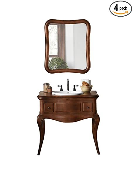 "Ronbow 073036-F11_Kit_1 Corsica Bathroom Vanity Set with Wood Countertop, 36"", Colonial Cherry"