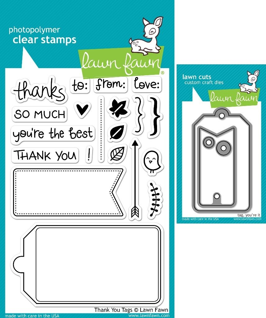 Lawn Fawn Thank You Tags Clear Stamp and Die Set - Includes One Each of LF731 (Stamp) & Tag, You're It LF575 (Die) - Custom Set ambulance doctor nurse vintage custom picture logo luxury wax seal sealing stamp brass peacock metal handle gift set