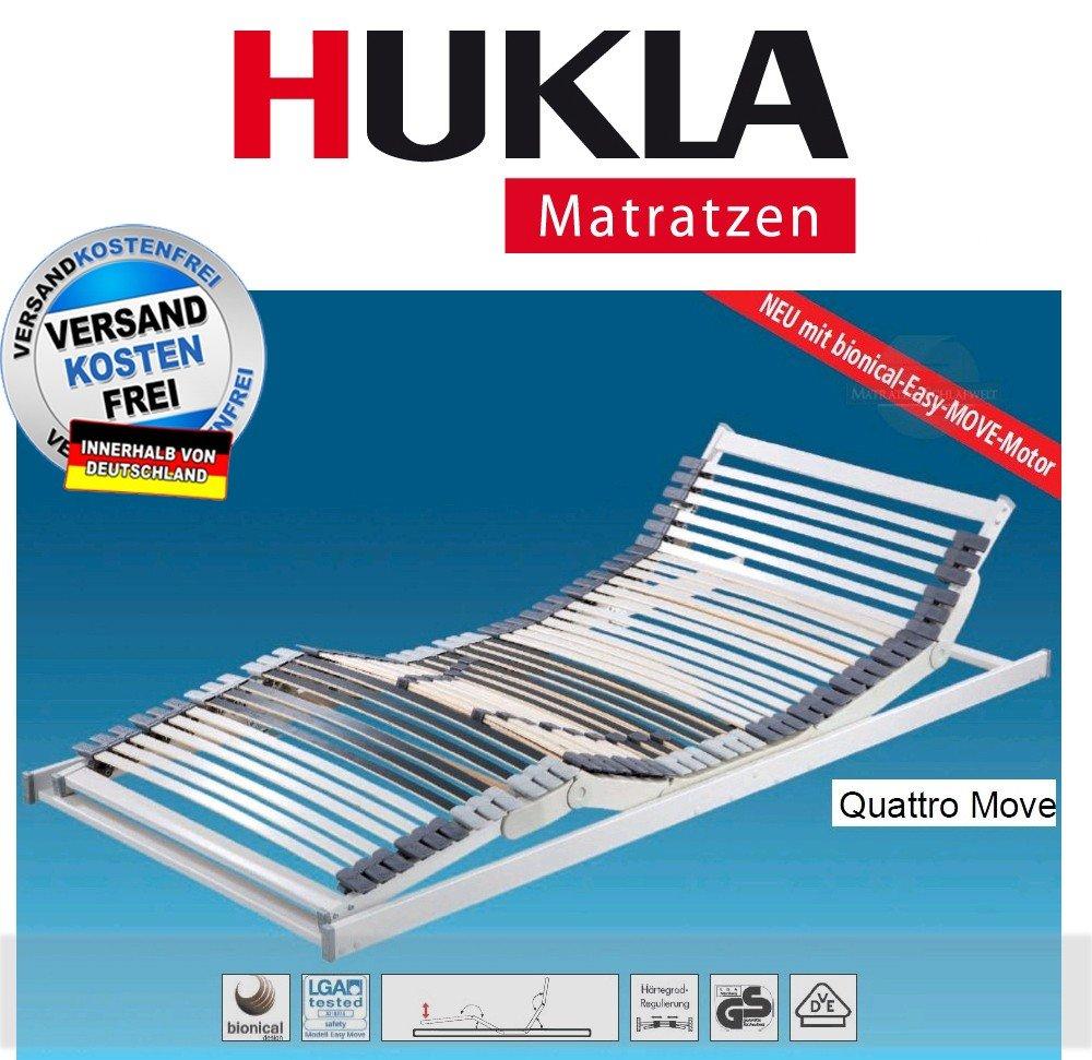 Hukla Quattro Move Luxus-Lattenrost mit bionical-Easy-Move-Motor, Größen Matratzen:100 x 200 cm