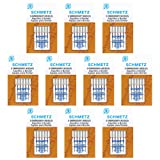 50 Schmetz Embroidery Sewing Machine Needles - size 75/11 - Box of 10 cards