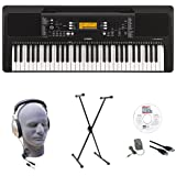 Yamaha PSR-E363 EPS 61-Key Premium Lighted Keyboard Pack with Stand, Headphones, Power Supply, USB Cable & eMedia Instructional Software (Tamaño: Educational Pack)