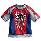 Disney Store Marvel Spiderman Boy Rash Guard Swim Shirt (4)