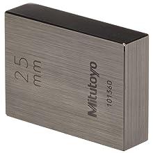 Mitutoyo Steel Rectangular Micrometer Inspection Gage Block Set, ASME Grade 0, 1.0 - 25 mm Length (10 Blocks)