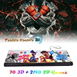 XFUNY Arcade Game Console 1080P 3D & 2D Games 2260 in 1 Pandora's Box 70 3D Games 2 Players Arcade Machine with Arcade Joystick Support Expand 6000+ Games for PC / Laptop / TV / PS4 (Color: Street Fighter)