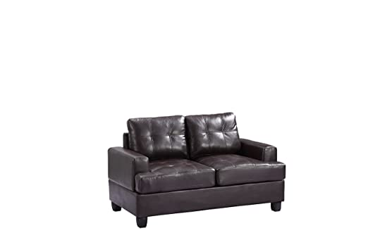 Glory Furniture G585A-L Living Room Love Seat, Cappuccino