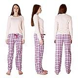 Cherokee Women's 2 Piece Pajama Set, Plaid Three, S