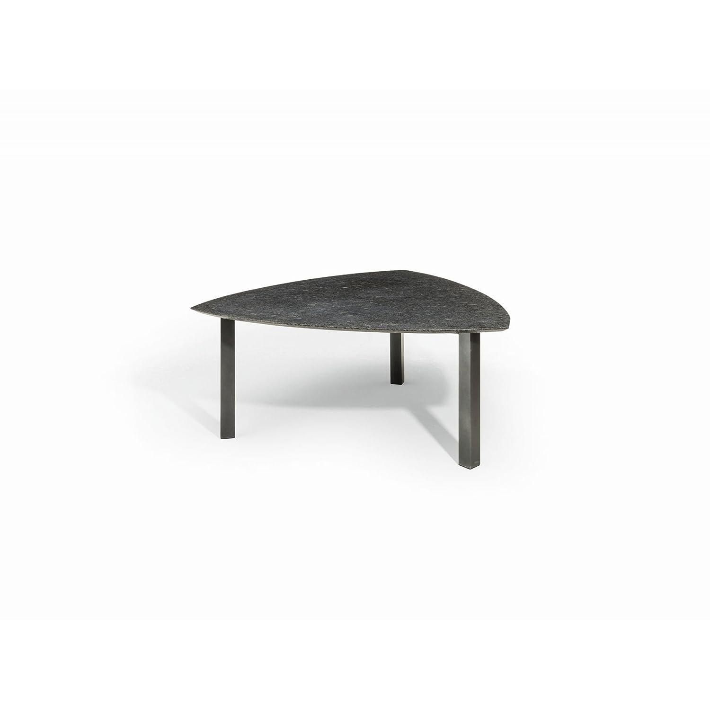 Studio 20 Bermuda Gartentisch 175 x 175 x 75 cm Outdoortisch Granittisch Stahl Tischplatte Pearl grey satiniert