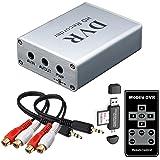 FPV Mini DVR with SD Card Reader, SD Card Real-time Digital Video Recorder for FPV Camera Hi8 Camcorder DVD TV Box MPEG-4 CH1 (Color: Mini DVR CH1, Tamaño: small)