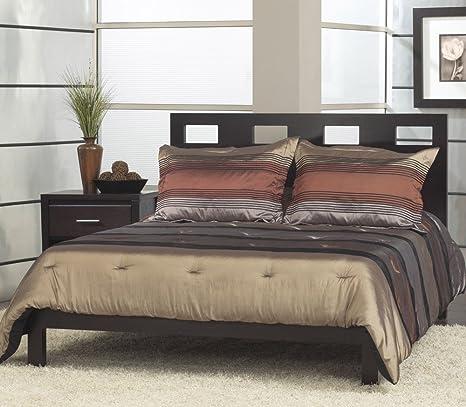 Modus Nevis 2 Piece Riva Platform Bedroom Set in Espresso