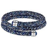 Swarovski Medium Blue Double Crystaldust Bangle (Color: Blue Large)