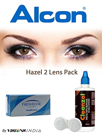 freshlook color contact lenses 2 lensesbox hazel monthly - Color Contacts Amazon