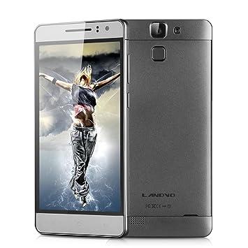 """LANDVO L600S LTE 4G Smartphone 5,0"""" IPS HD Ecran Quad Core Dual SIM Android 4.4 Kitkat MTK6732 1Go RAM 8Go RAM 8Go ROM avec 8MP et 5MP caméra support Smart Wake Air Gesture WIFI GPS OTG Bluetooth potable sans forfait (Gris Foncé)"""