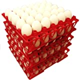 96 RITE FARM PRODUCTS 30 EGG POLY CHICKEN TRAYS SHIPPING CARTON POULTRY FLAT (Color: Red, Opaque)