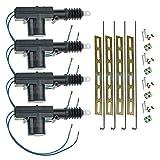 InstallGear Universal Car Power Door Lock Actuator 12-Volt Motor (4 Pack)