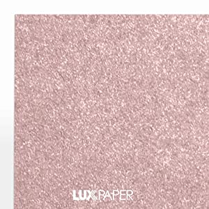 LUXPaper 8.5 x 11 Paper for Crafts and Printing in Misty Rose Metallic - Sirio Pearl, Scrapbook and Office Supplies, 500 Pack (Rose) (Color: Misty Rose Metallic - Sirio Pearl?, Tamaño: 500 Qty.)