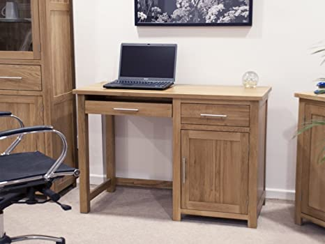 Eton solid oak furniture small office PC computer desk