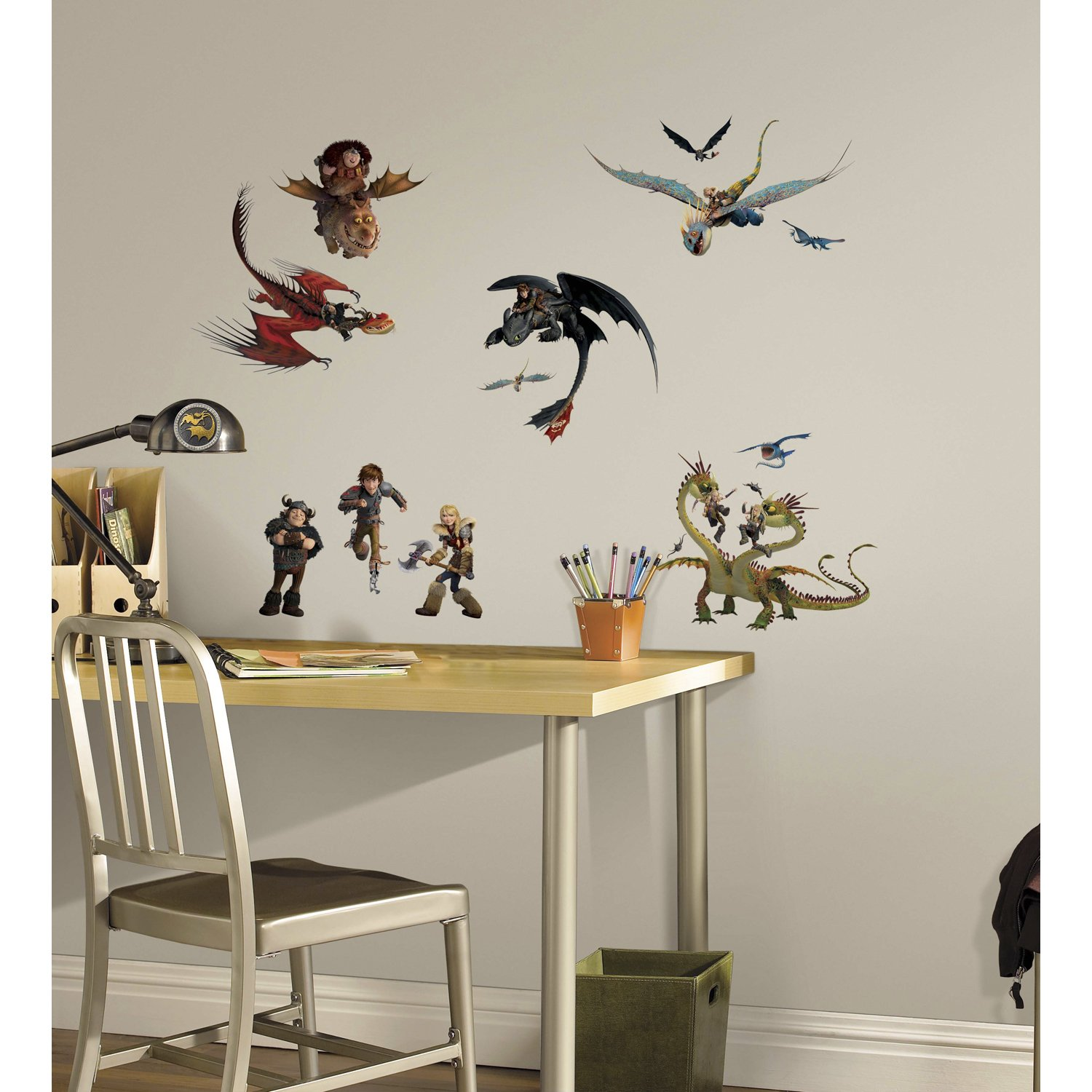 Repositionable wall decals