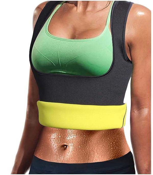 Women Neoprene Sauna Sweat Waist Trainer Vest Weight Loss Workout Fat Burner Zip