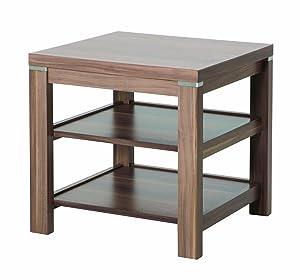 HAKU Möbel 42811 Beistelltisch 45 x 45 x 46 cm, nußbaum   Kundenbewertung und weitere Informationen