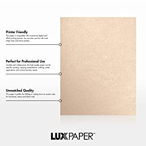LUXPaper 8.5 x 11 Paper for Crafts and Printing in Coral Metallic - Stardream, Scrapbook and Office Supplies, 500 Pack (Coral) (Color: Coral Metallic - Stardream?, Tamaño: 500 Qty.)