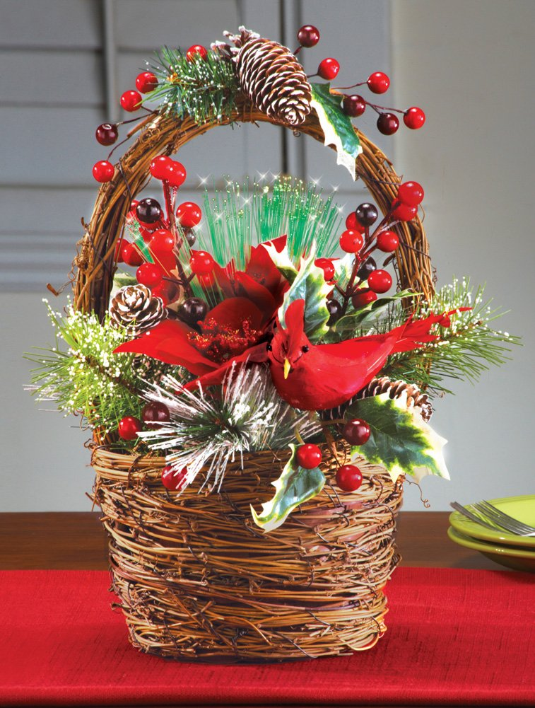 poinsettia christmas basket centerpieces centerpiece table floral holiday cardinal wikii ball decorate
