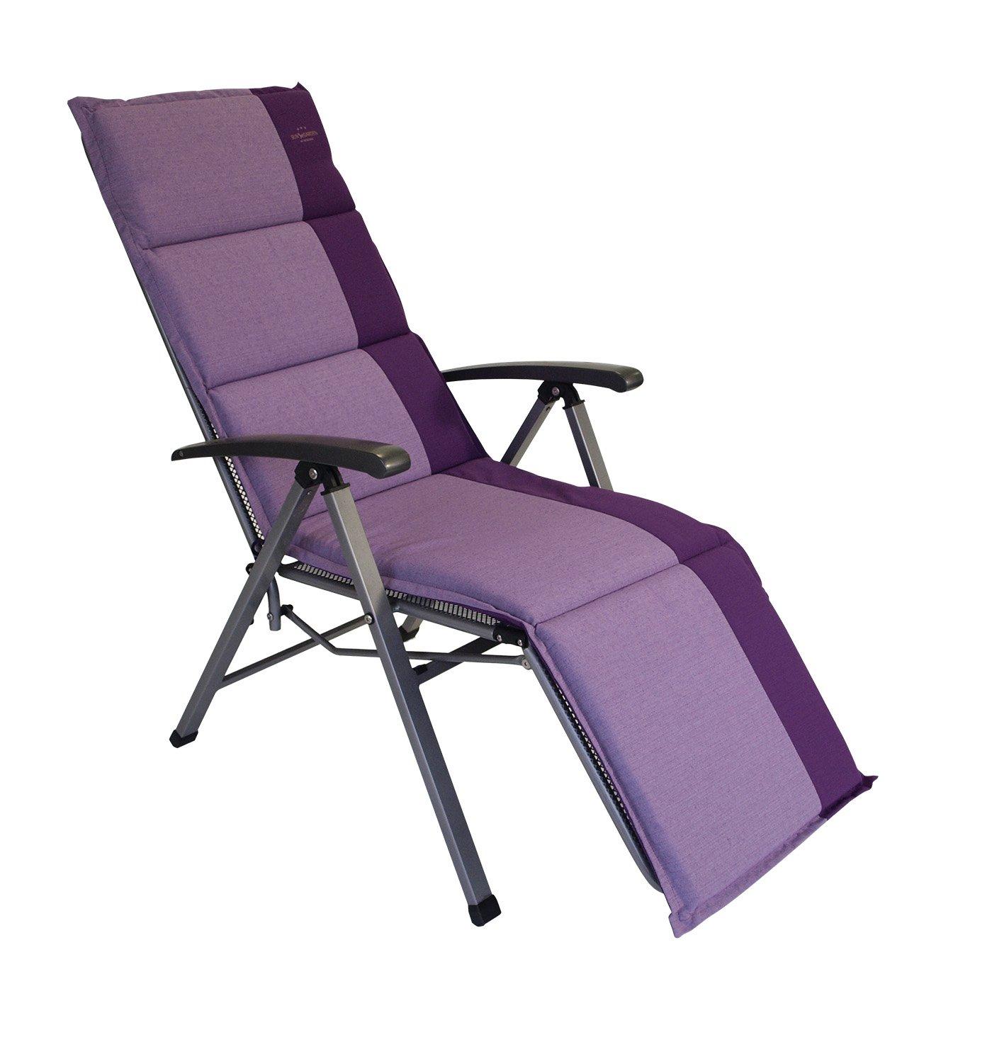 Wende - Auflage Capri für Relaxsessel / Deckchair 168x50cm, lila
