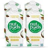 nutpods Dairy-Free Creamer Unsweetened (Original, 4-pack) - Whole30 / Paleo / Keto / Vegan / Sugar Free