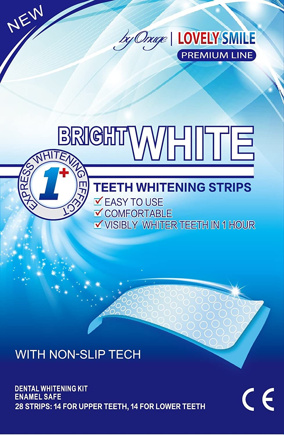 28 Teeth Whitening Strips | Lovely Smile Premium Line Professional Quality - NEW Non-Slip Tech - Teeth Whitening Kit - Tooth Whitening - Express Whitening - Whiter Teeth