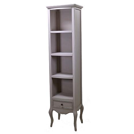 Vacchetti Giuseppe 8032330000 Mobile Brema Libreria, 4 Piani e 1 Cassetto, Legno, Grigio, 45 x 35 x 175 cm