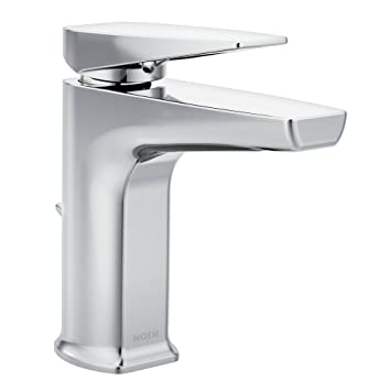 Moen S8000 Via One-Handle Low Arc Bathroom Faucet, Chrome