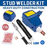 Mophprn Welder Stud Starter Kit 800 VA Spot Stud Welder Dent Puller Kit Electric Stud Welder Kit for Auto Body Repair (Color: 23.7 LB)