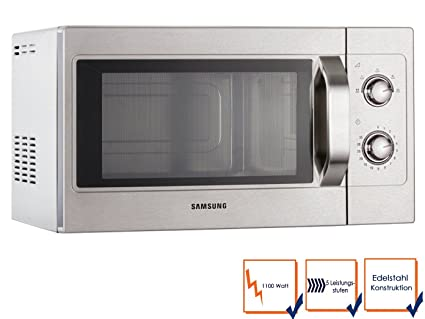 Samsung pro micro-ondes-acier inoxydable - 26 l (5 programmes, 1100 w, cM1099 gGG/a