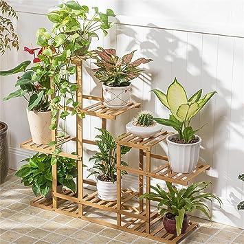 Balkon Mehrstöckige Blumenständer Bambus Wohnzimmer Boden Blumentöpfe Innenmontage Blumenständer