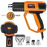 Heat Gun, 122?-1112?(50? -600?) Hot Air Gun Kit, 9-Dial Temperature Settings, 3 Air Flow rates and 4 Nozzles, Heat Gun for Stripping Paint, Shrinking PVC - HGP74AC (Color: Orange)