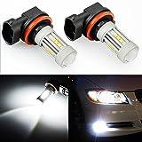 JDM ASTAR 2600 Lumens Extremely Bright 3030 Chipsets H11 LED Fog Light Bulbs for DRL or Fog Lights, Xenon White (H11)