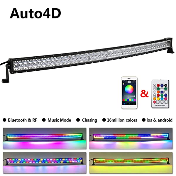 Harness Kit 4D Lens 50/'/' Curved 288W LED Light Bar Combo Driving Truck Ford ATV