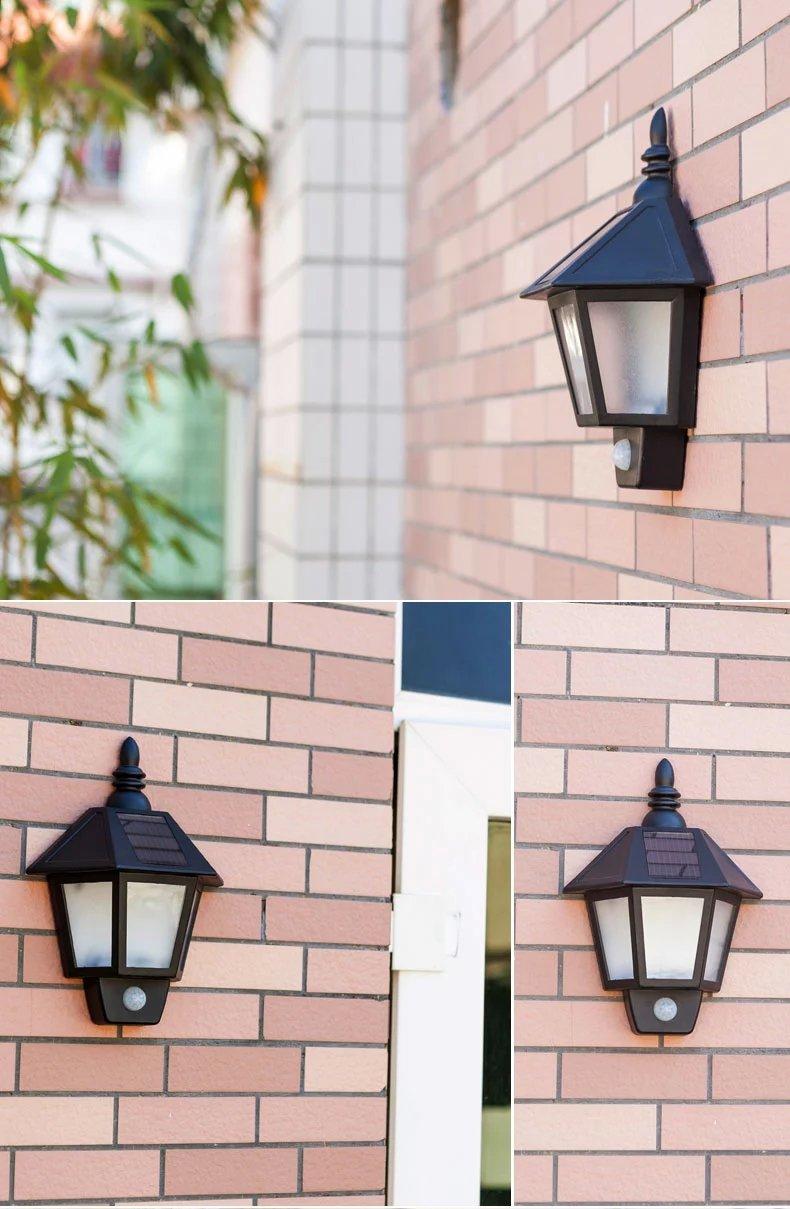 Easternstar LED Solar Wall Light Outdoor Solar Wall Sconces Vintage Solar Motion Sensor Lights Security Wall Lights For Outside Wall,Deck,Porch,Garden,Patio,Fence,Garage(1PCS) 5