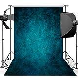 econious Photography Backdrop, 5x7 ft Retro Art Blue Portrait Backdrop for Studio Props Photo Backdrop (Color: Retro Art Blue)