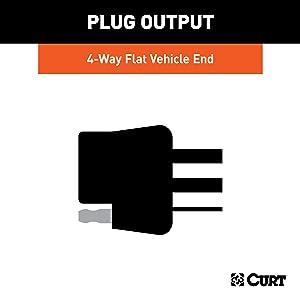 CURT 56217 Vehicle-Side Custom 4-Pin Trailer Wiring Harness ... on
