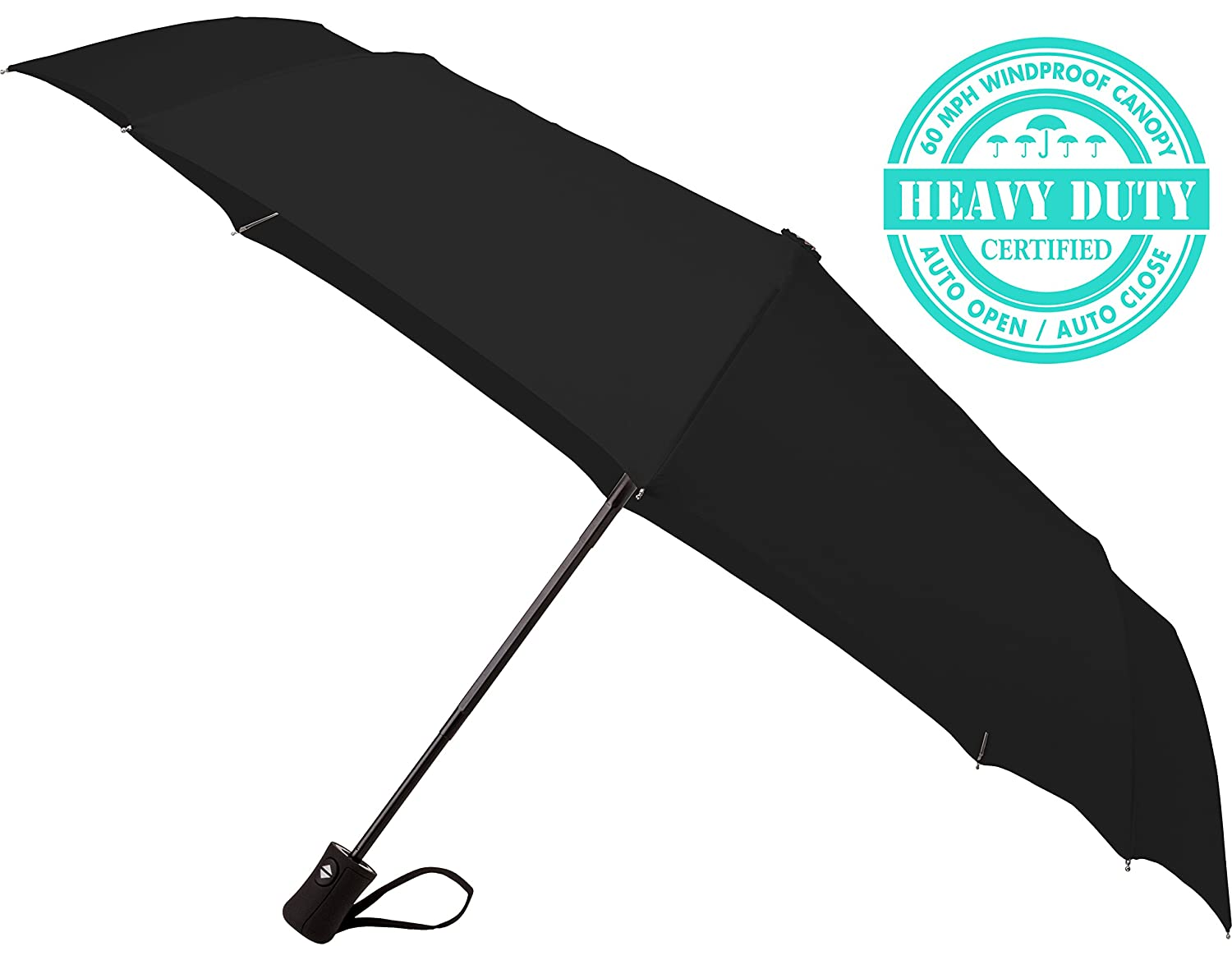 "60 MPH Windproof Umbrellas Various Colors ""Guaranteed Lifetime Replacement Program"" Auto Close Auto Open Compact Travel Umbrella Doesn"