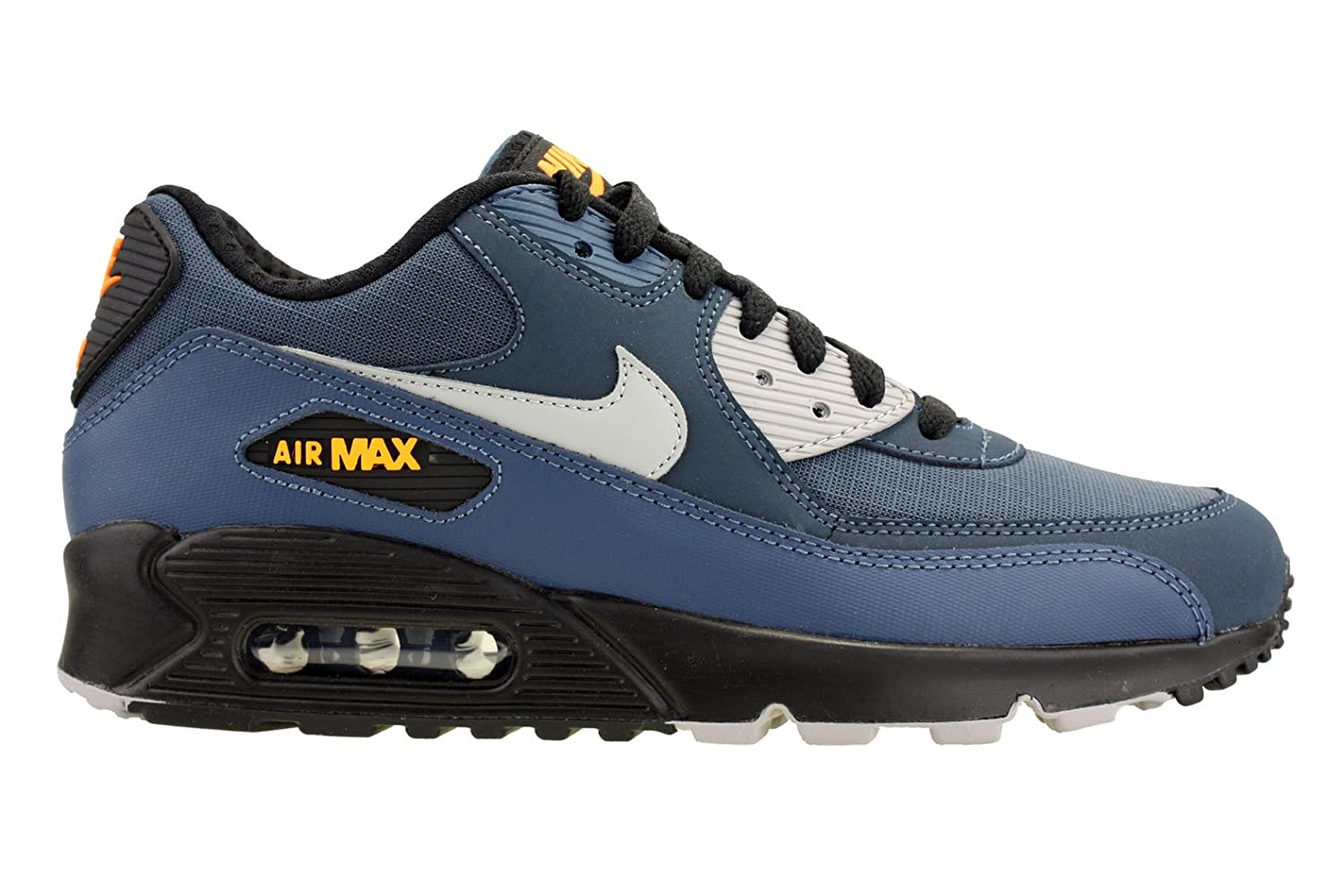 new arrival 76e64 cde91 Nike Mens Air Max 90 Essential Running Shoes Squadron Blue/Black/Citrus  537384-413 Size 9.5 | $118.99 - Buy today!