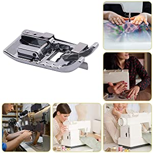 Stitch in Ditch Foot/Edge Joining Foot Sewing Machine Presser Foot - Fits All Low Shank Snap-On Singer, Brother, Babylock, Janome, Kenmore, White, Juki, New Home, Simplicity, Elna etc. (Color: Silver)