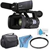 JVC GY-HM620 ProHD Mobile News Camera (GY-HM620U) + 72mm UV Filter + Carrying Case + Deluxe Cleaning Kit + Fibercloth Bundle (Tamaño: Body)