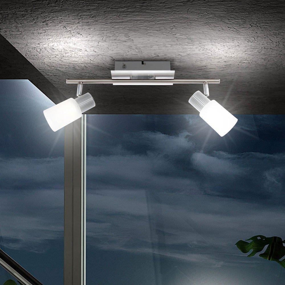 Globo Strahler nickel matt, chrom, alabaster Optik weiß, nur LED, L x B x H 155 x 80 x 130, inklusiv 1 x LED 5 W, 6.5 V, 300 LM, 3200K, warmweiß 569131   Überprüfung und weitere Informationen