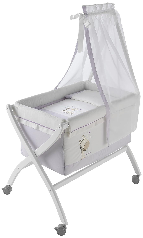 Naf-Naf 30607 Wiege Oval und Moskitonetz, Design Jungle Lilac 50% Baumwolle 50% Polyester