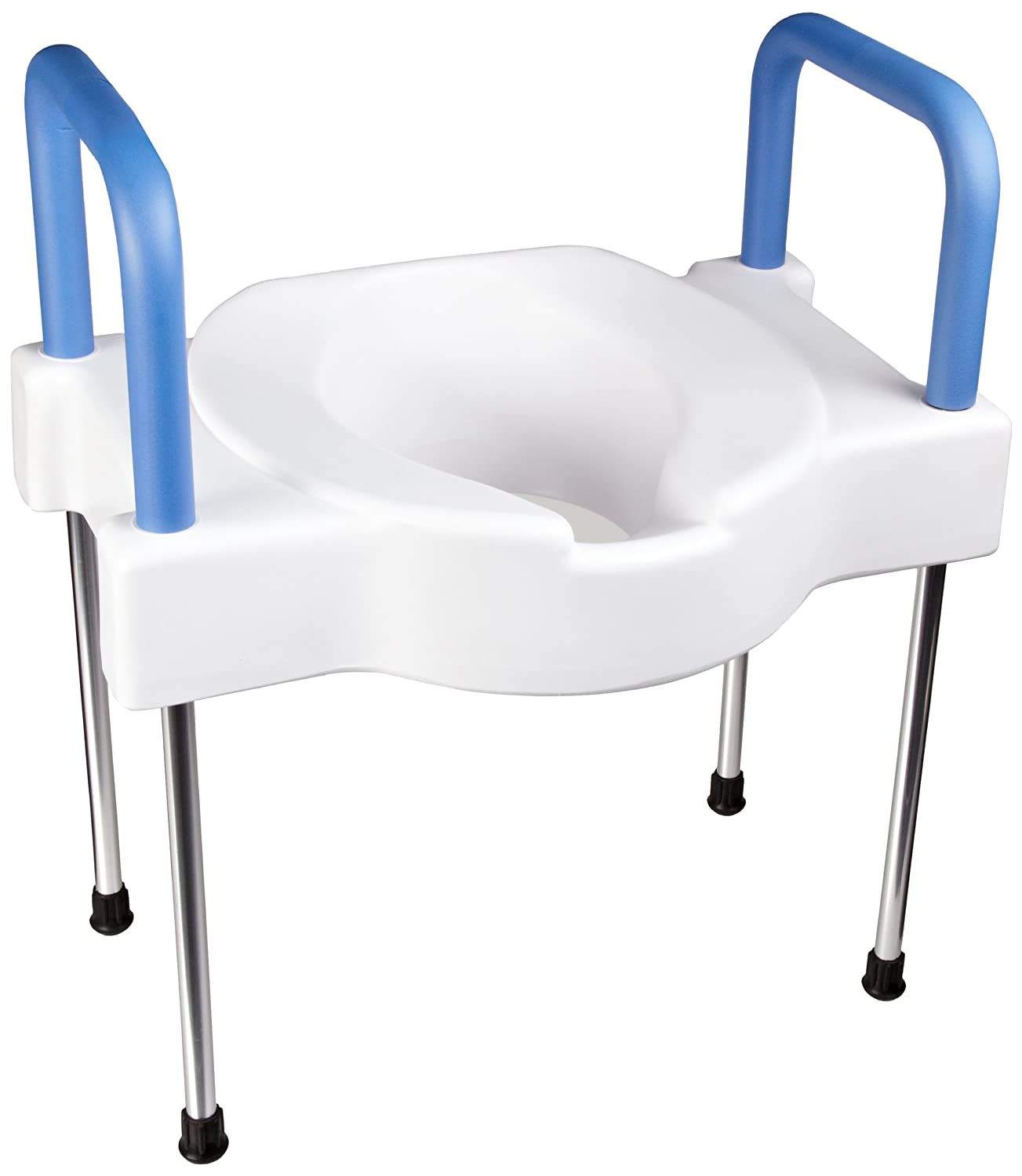 Tall Ette Extra Wide Elevated Toilet Seat With Legs New
