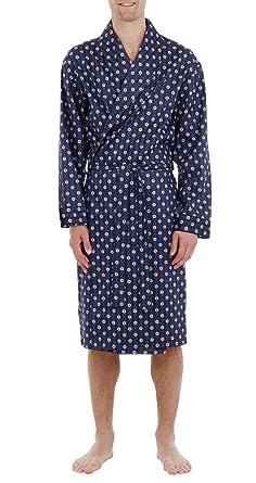 bown of london robe robe de chambre l g re 100 coton marine assorti homme m. Black Bedroom Furniture Sets. Home Design Ideas